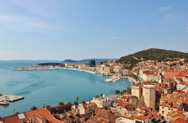 View from the church bell tower, Split, Croatia