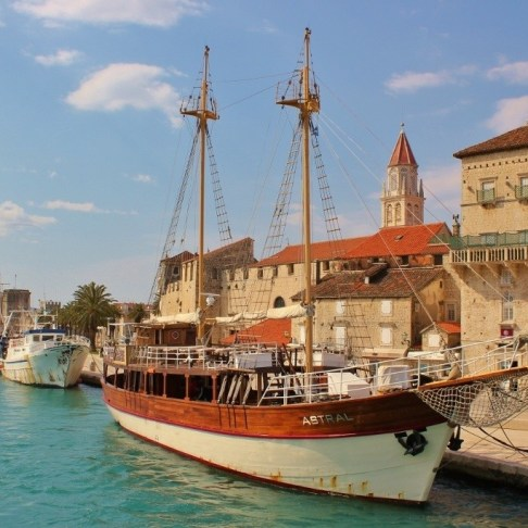 Trogir, Croatia harborfront promenade