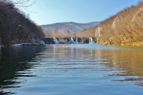 Plitvice Lakes: Four falls across the lake