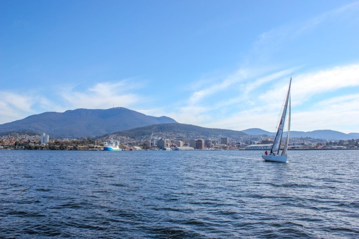 Sailing in Tasmania