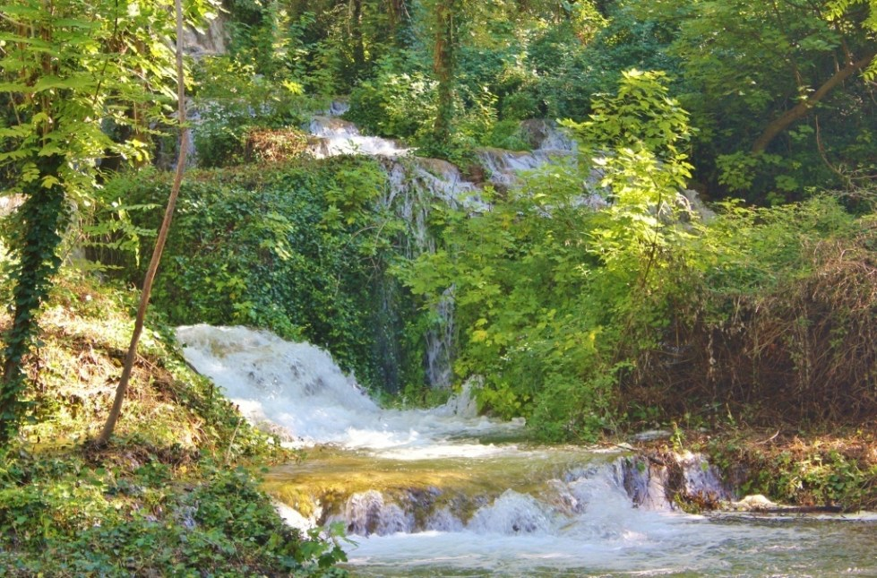 A forest of waterfalls at Krka National Park