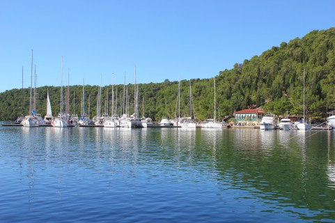 Boats in the marina in Skradin, Croatia