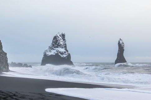 Reynisfjara Black Beach Iceland at winter