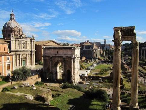 15-Day London Paris Rome Itinerary Rome Roman Forum View