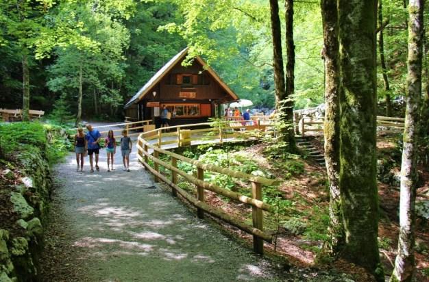 Savica Waterfall is the most Popular of Hiking Trails near Lake Bohinj, Slovenia