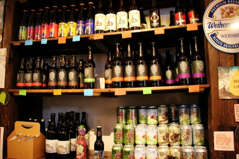 Slovenian Craft Beer at Za Popent Beer Store Ljubljana Slovenia