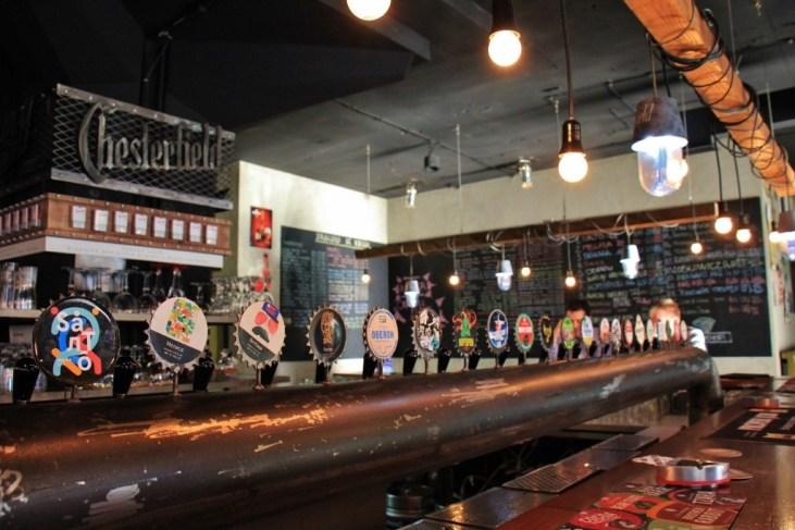 The beers on tap at Samo Pivo craft beer bar in Belgrade, Serbia