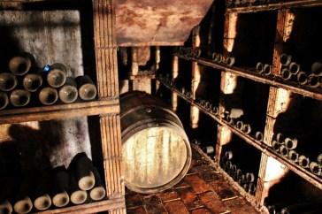 Slovenian Wine in cellar at Hisa Vin Rondic in Slap, Slovenia