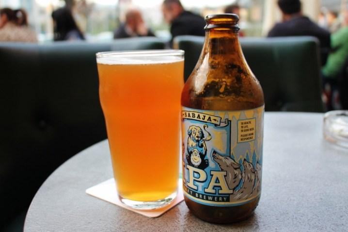 Bottle of Sabaja IPA Craft Beer in Prishtina, Kosovo