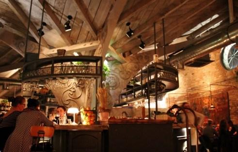Bar at Soma Book Station Gastropub in Prishtina, Kosovo
