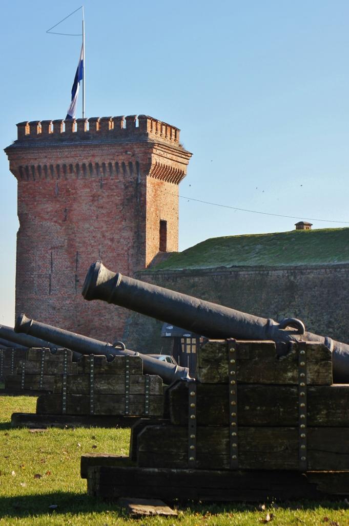 Cannons at Tvrda Citadel in Osijek, Croatia