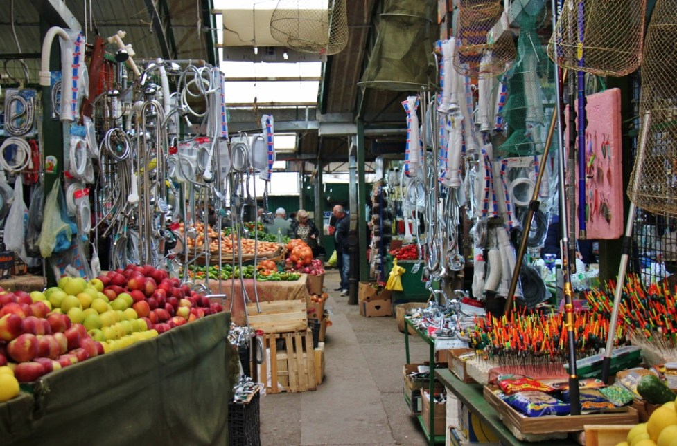 Random goods for sale at Bit Pazar Market, Old Bazaar, Skopje, Macedonia