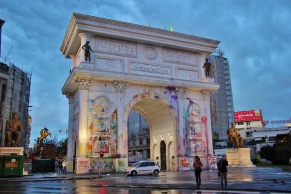 Porta Macedonia, Triumphal Arch, Skopje, Macedonia