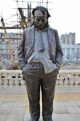 Statue of Down and Out Man, Skopje, Macedonia