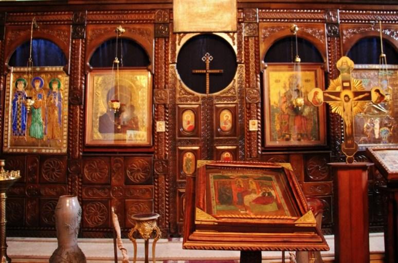 Altar inside Metekhi Church, Tbilisi, Georgia