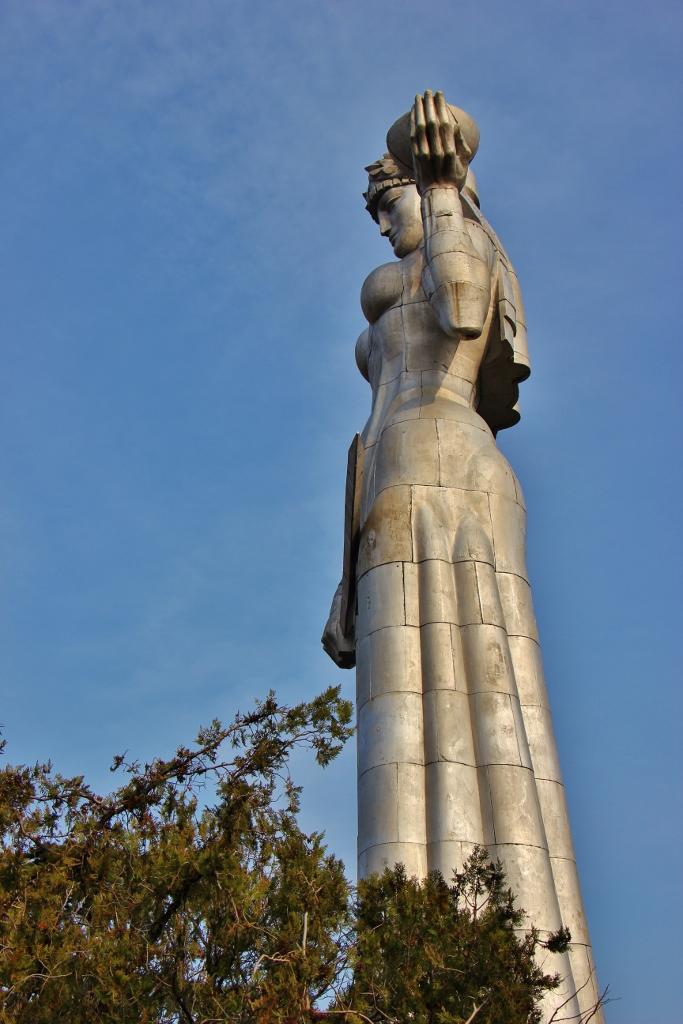Aluminum Mother of Georgia Statue, Tbilisi, Georgia