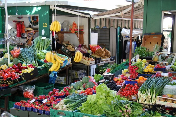 Fresh produce for sale at the Green Market, Makarska, Croatia