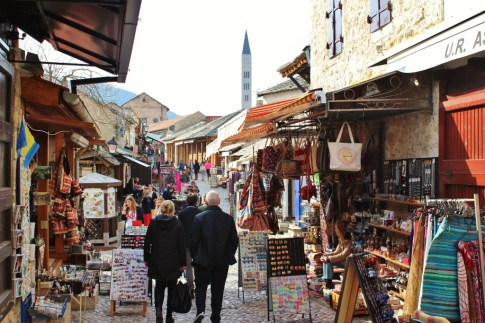 Mostar souvenir shops, Bosnia Herzegovina