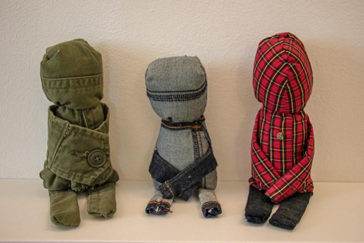 Voodoo dolls on display at the Museum of Broken Relationships in Zagreb, Croatia