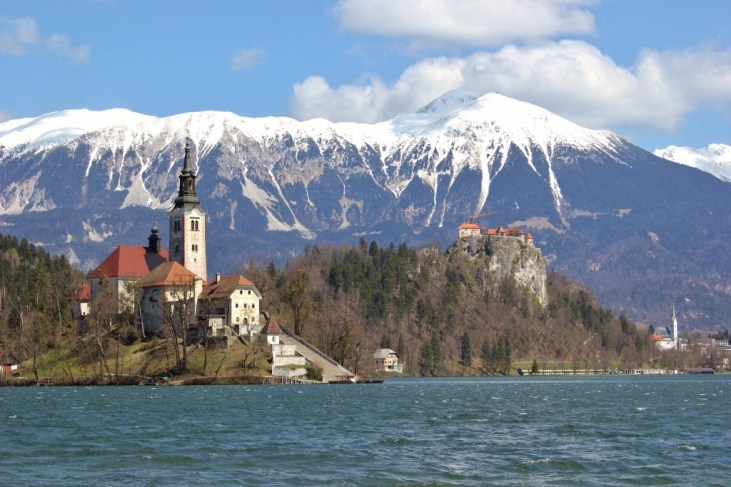 Bled Island on Lake Bled, Slovenia