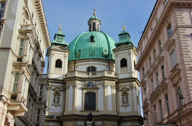 Baroque St. Peter's Church in Vienna, Austria