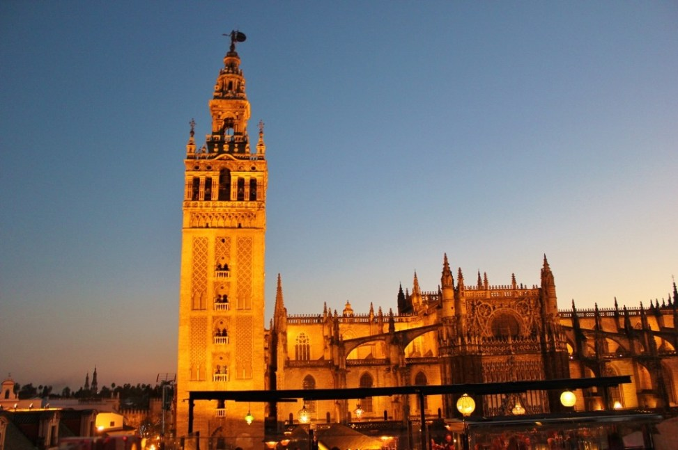La Giralda Tower and St. Mary of the See Cathedral in Seville, Spain