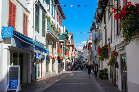 Street in Saint Jean de Luz, France