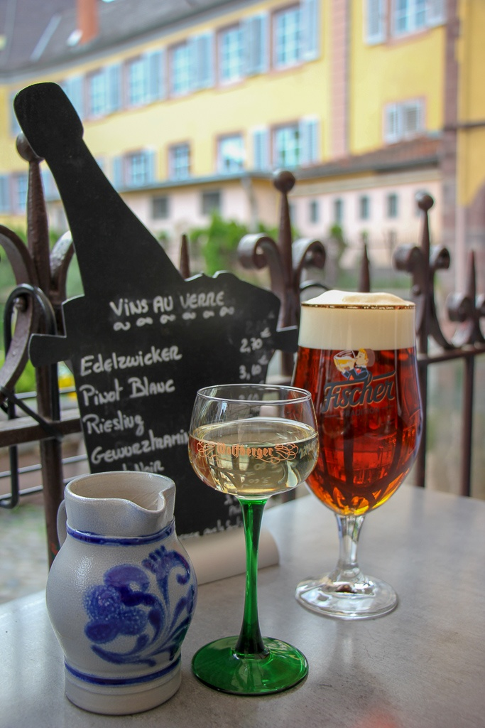 Alsace wine and beer in Colmar, France