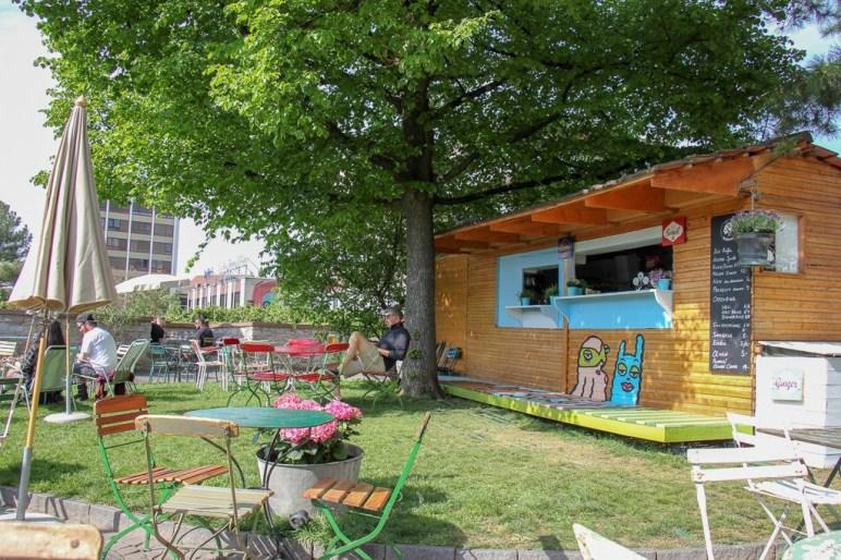 Buvette Bollwerk outdoor-only bar in Basel, Switzerland