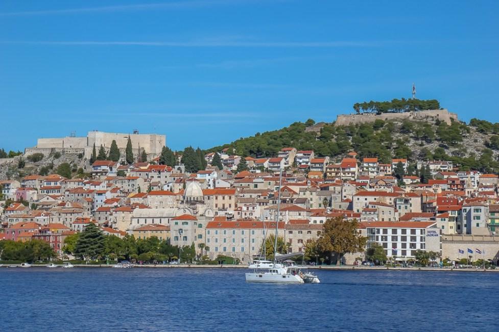 View of Fortresses of Sibenik, Croatia