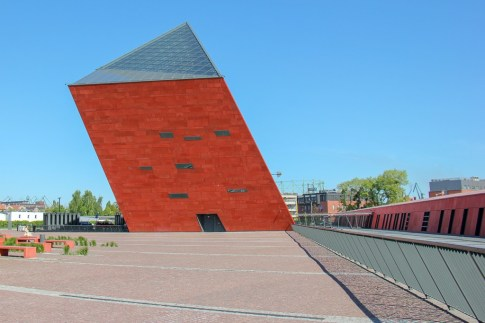 The Museum of the Second World War building in Gdansk, Poland