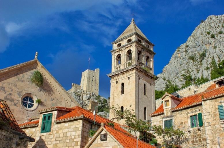 Church in the Old Town of Omis, Croatia