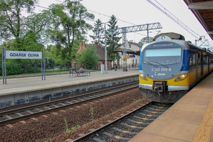 Train from Oliwa to Gdansk, Poland