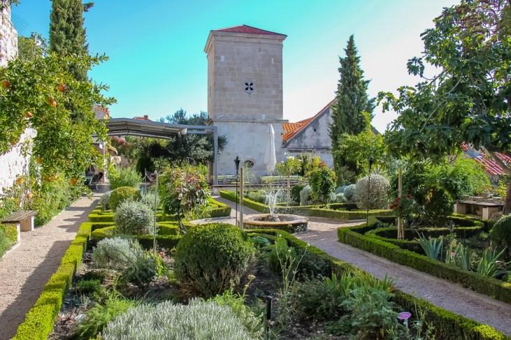 walking the gardens, The Monastery of the Holy Luce, Sibenik, Croatia
