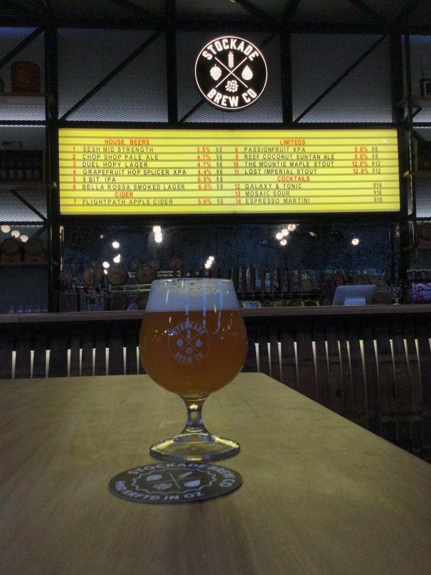 Beer at Stockade Brewery in Marrickville, Sydney, Australia