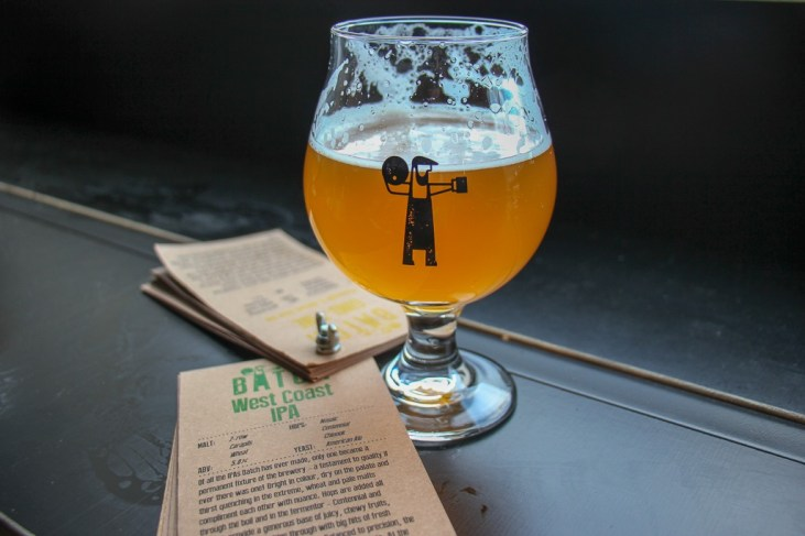 Glass of West Coast IPA at Batch Brewing in Marrickville, Sydney, Australia