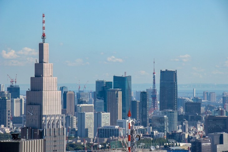 City Skyline View from Tokyo Metropolitan Government Building in Tokyo, Japan