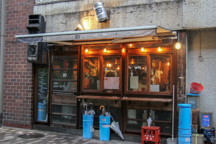 Entrance to Craft Beer Bar IBREW in Tokyo, Japan