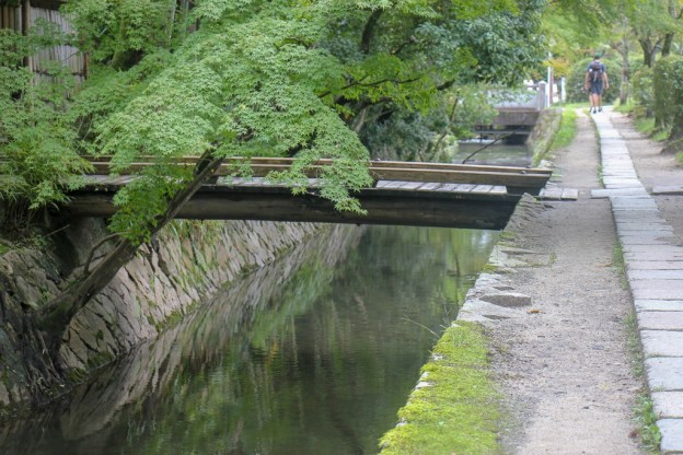 Philosopher's Path follows the canal in Kyoto, Japan
