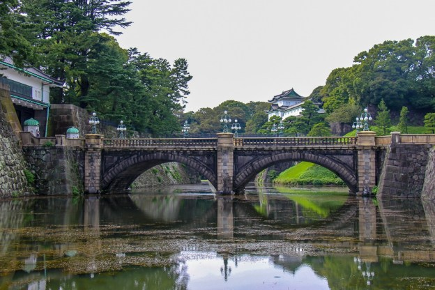 Eyeglass Bridge at Imperial Palace in Tokyo, Japan