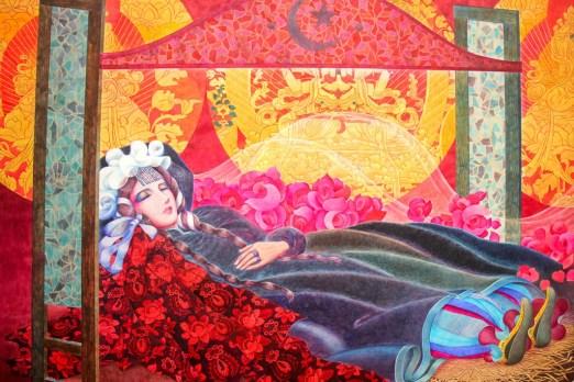 Artwork at Tokyo Metropolitan Art Museum at Ueno Park in Tokyo, Japan