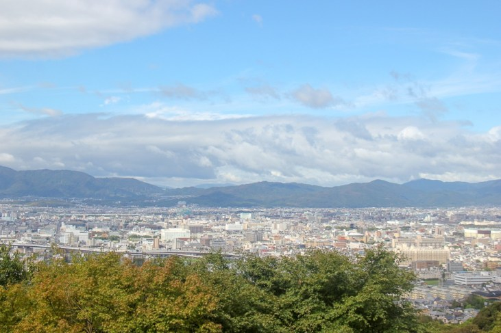 Viewpoint from Mount Inari in Kyoto, Japan