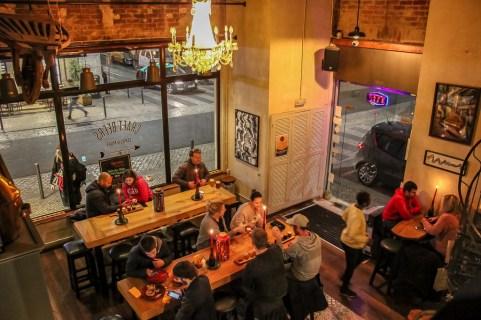 Cozy Interior at Crafty Corner Craft Beer Bar, Lisbon, Portugal