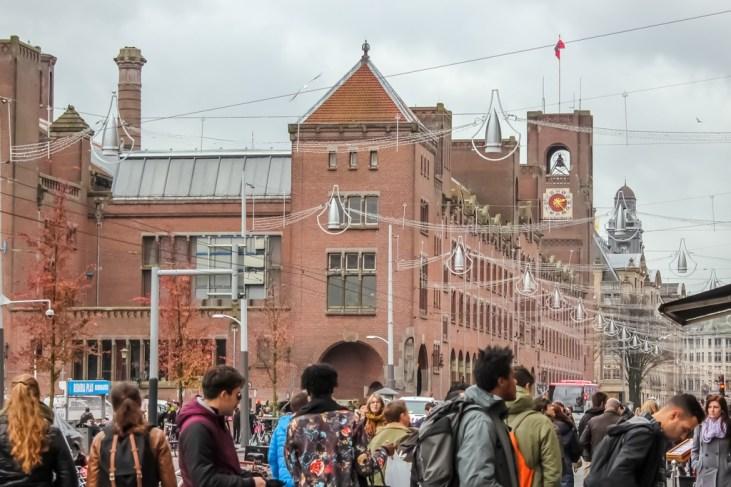 Damrak pedestrians, Amsterdam, Netherlands