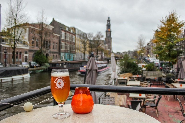 Craft beer on the canals in Amsterdam