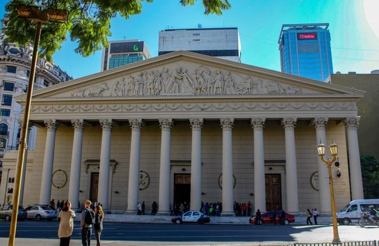 Metropolitan Cathedral on Plaza de Mayo in Buenos Aires, Argentina