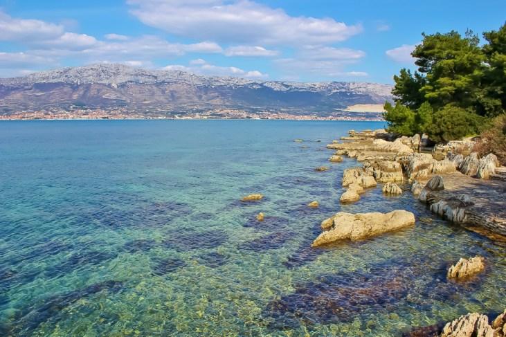 Rustic Bene Beach on Marjan Peninsula in Split, Croatia
