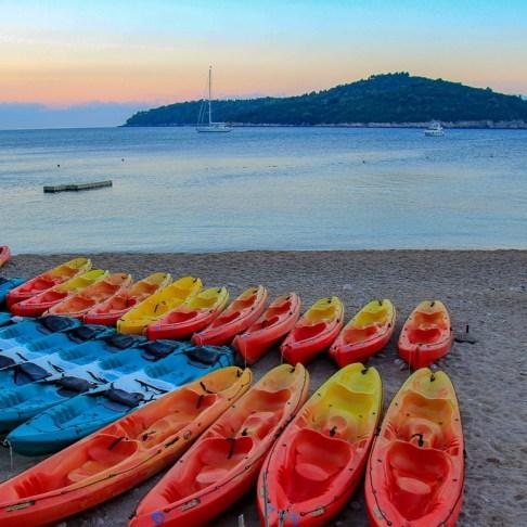 Kayaks, Dubrovnik, Croatia
