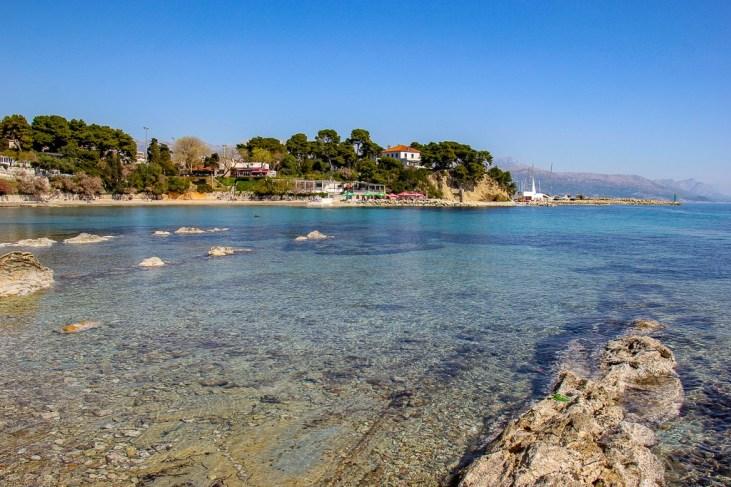 Eastern view over Firule Beach in Split, Croatia