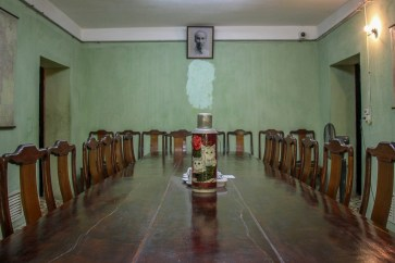 Meeting room in Bunker at Citadel in Hanoi, Vietnam